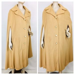 1960's Kashmiracle Wellington Cape Poncho Coat